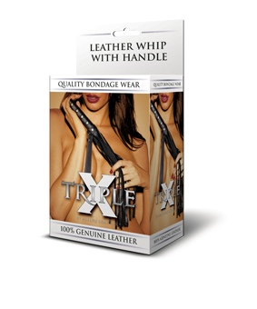 Leather Whip with Handle