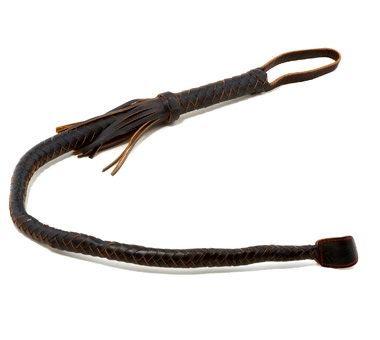 Black Leather Bull Whip